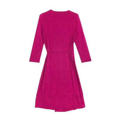 wrap dress hot pink
